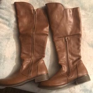 Candies (Kohl's) tan knee high boots